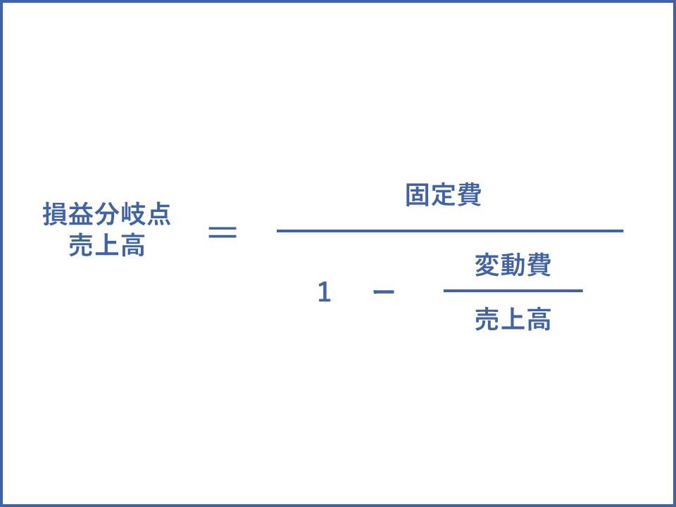 損益分岐点の計算式
